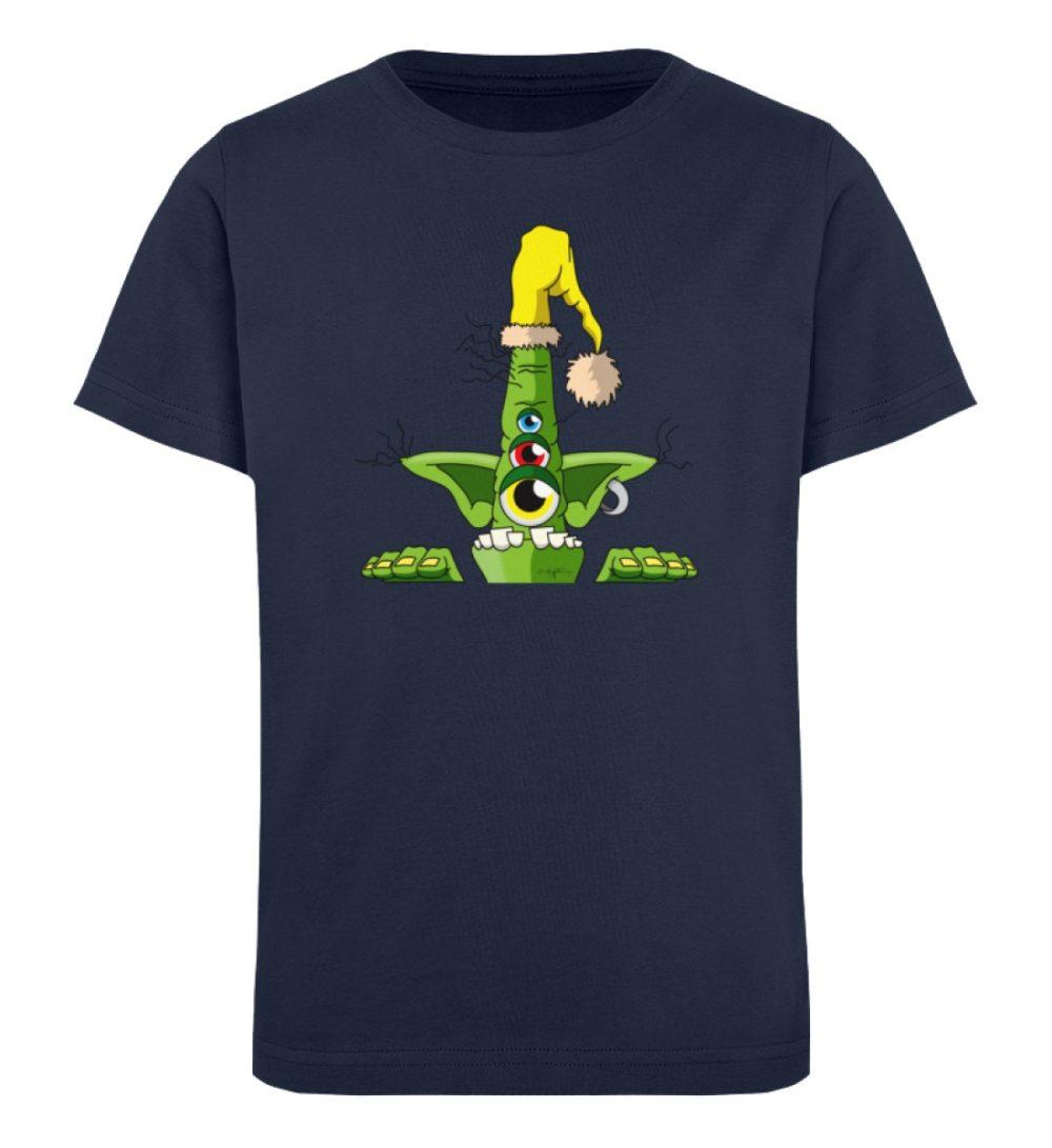 berlin-monster-art-shirt-kids-green - Kinder Organic T-Shirt-6887