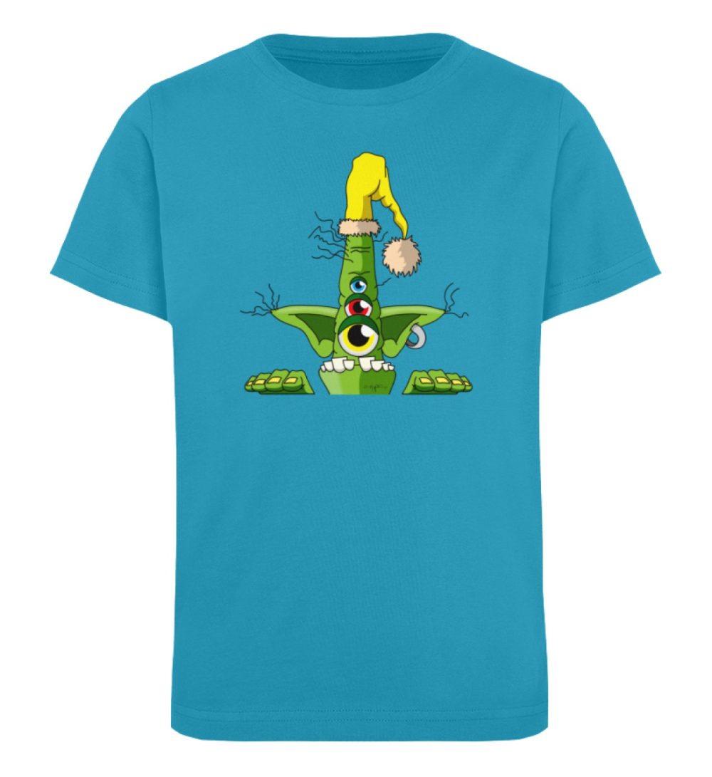 berlin-monster-art-shirt-kids-green - Kinder Organic T-Shirt-6885
