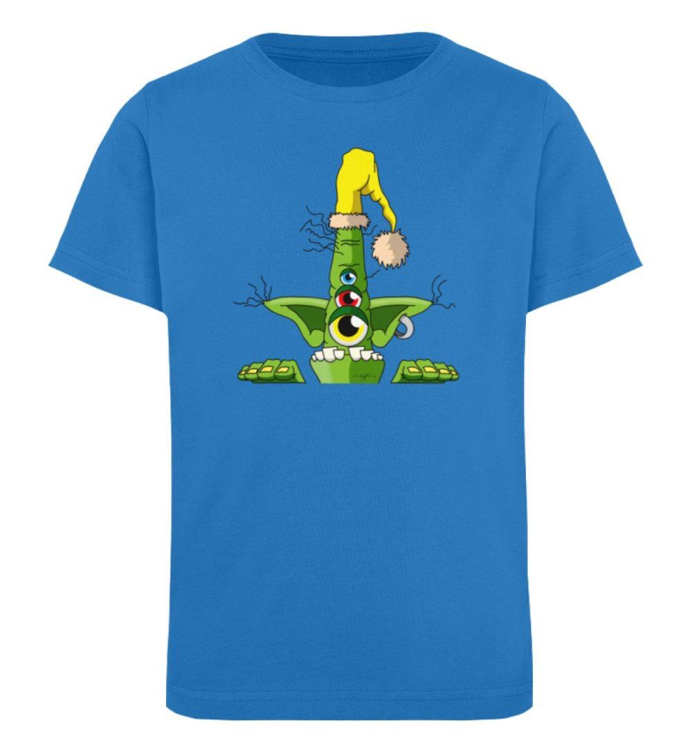 berlin-monster-art-shirt-kids-green - Kinder Organic T-Shirt-6886