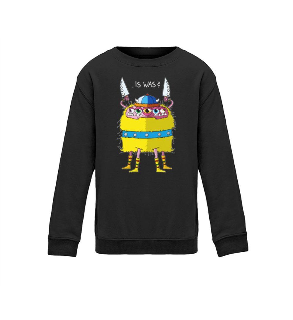 berlin-monster-art kids-sweatshirt-longsleeve-lars - Kinder Sweatshirt- motiv lars geschenkidee souvenir bedruckt handmade schenken dark dunkel black schwarz