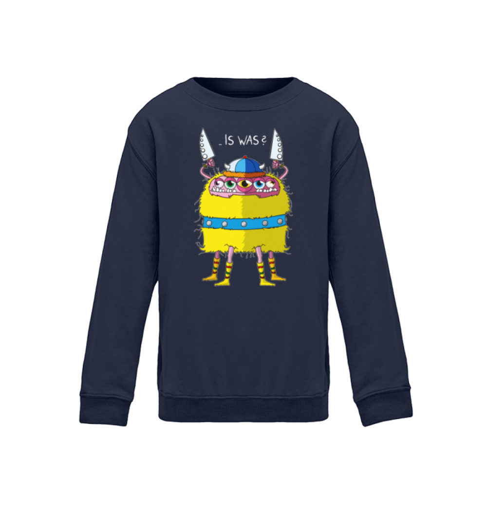 berlin-monster-art kids-sweatshirt-longsleeve-lars - Kinder Sweatshirt- motiv lars geschenkidee souvenir bedruckt handmade schenken navy blue dark blau