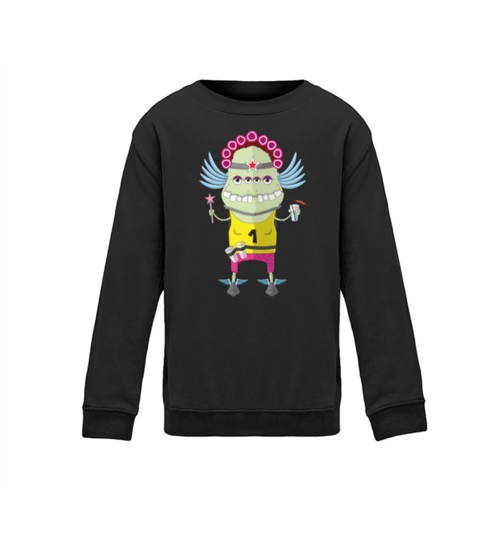berlin-monster-art kids-sweatshirt-longsleeve-muddy - Kinder Sweatshirt muddy motiv monstermotiv bedruckte monster zum verschenken dark dunkel