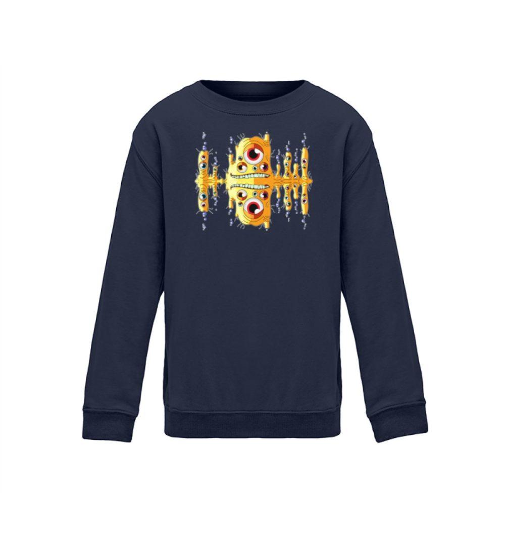 kids-sweatshirt-longsleeve-blubbah - Kinder Sweatshirt Blubbah berlin-monster-art.com berlin monster art street style witzes motiv navy blue blau