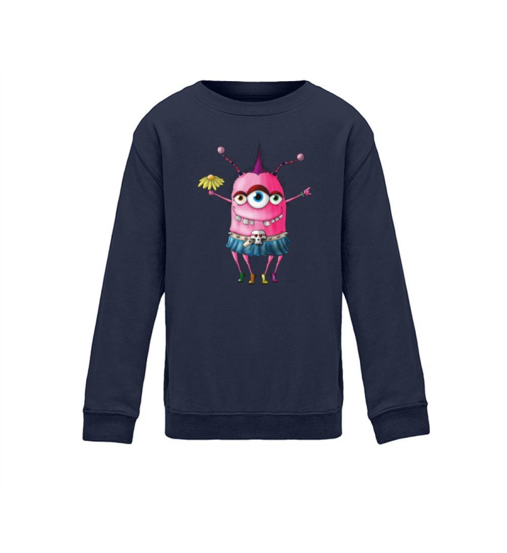 berlin-monster-art.com kids-sweatshirt-longsleeve-linderella - Kinder Sweatshirt mit coolem motiv für die schule pop-art dark blue navy blue blau