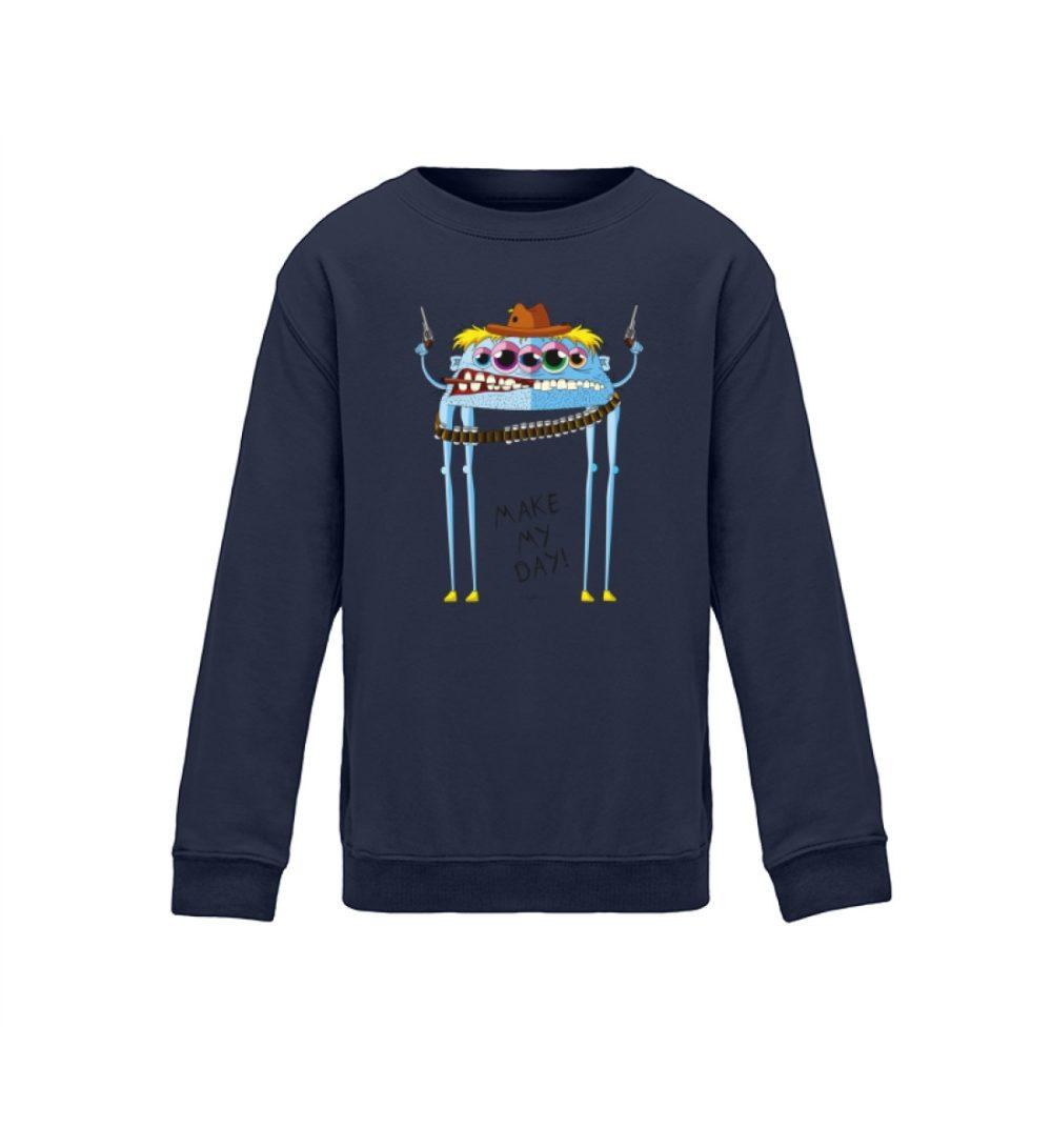 berlin-mosnter-art kids-sweatshirt-longsleeve-joe - Kinder Sweatshirt cowboy motiv joe comic schule sport witzes motiv lustiges monster bedruckt premium dark blue dunkelblau navy