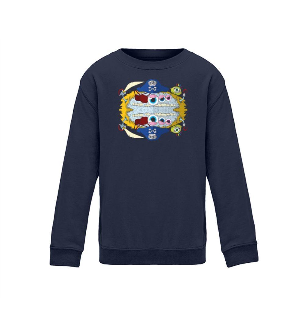 kids-sweatshirt-longsleeve-pirato - Kinder Sweatshirt pullover geschenkidee kalte tage berlin-monster-art verschenken kaufen bedrucktes shirt navy blue blau